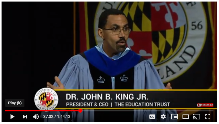 John King Jr at UMD Winter 2018 Commencement