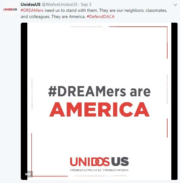 #DREAMers need us to stand with them. They are our neighbors, classmates, and colleagues. They are America. #DefendDACA